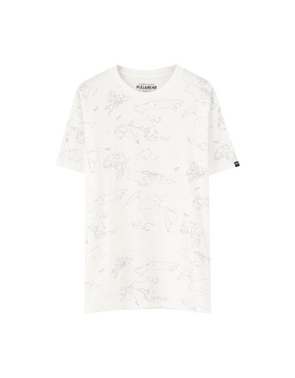 Short sleeve map T-shirt