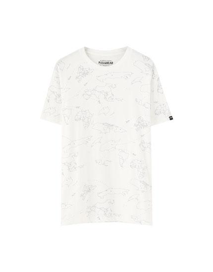 Camiseta mapa manga corta