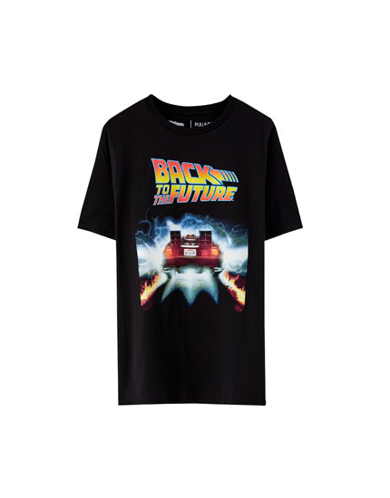 1ea2f92dc9a Back to the Future DeLorean T-shirt - pull bear