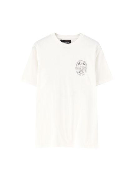 Coloured print T-shirt