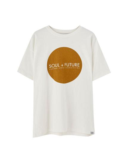 Join Life kalın örgü t-shirt
