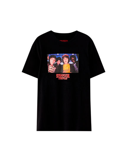 Netflix Stranger Things T-shirt with character photo