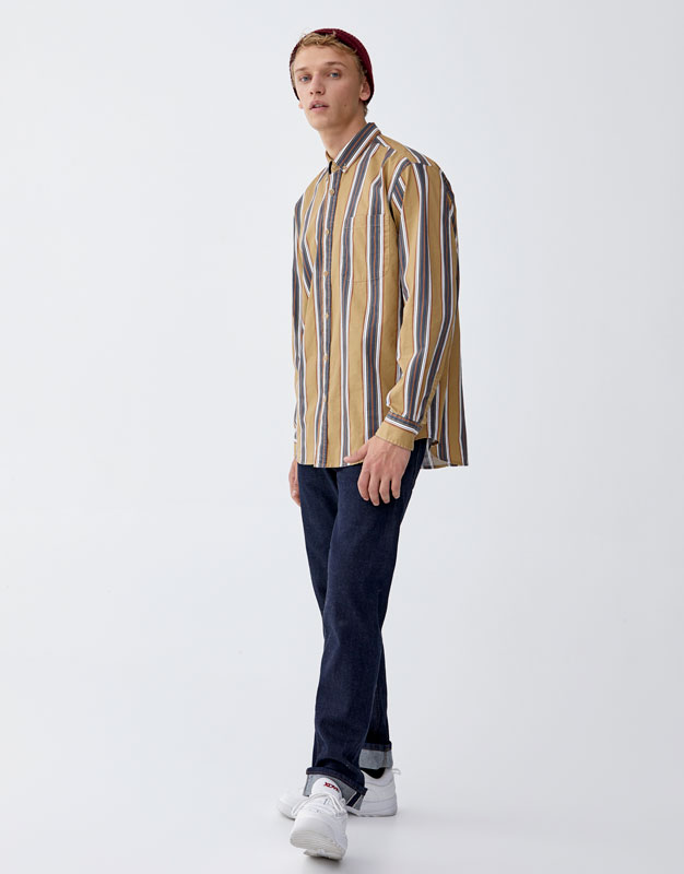 Camicia A Righe Verticali Twill by Pull & Bear
