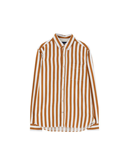 Wide-striped shirt