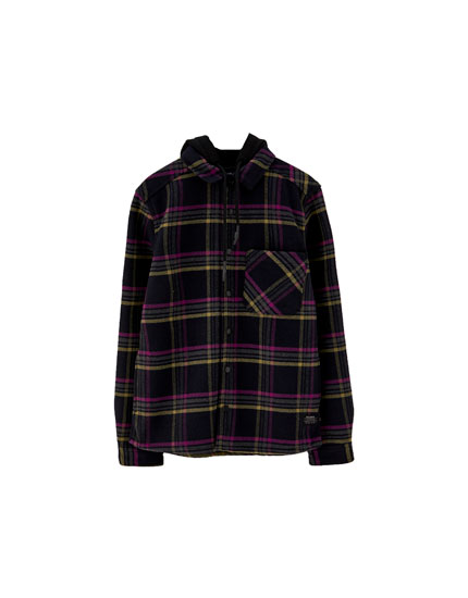 Fleece-lined overshirt