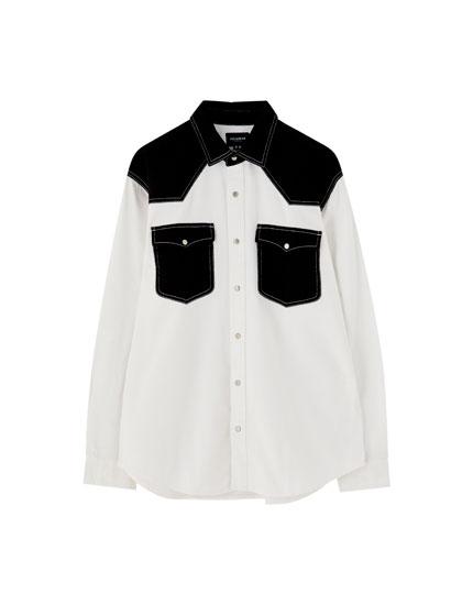 Two-tone cowboy shirt