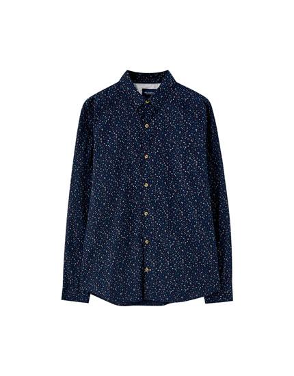 Basic printed poplin shirt