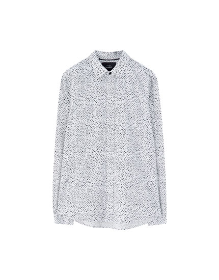 Popeline overhemd met print