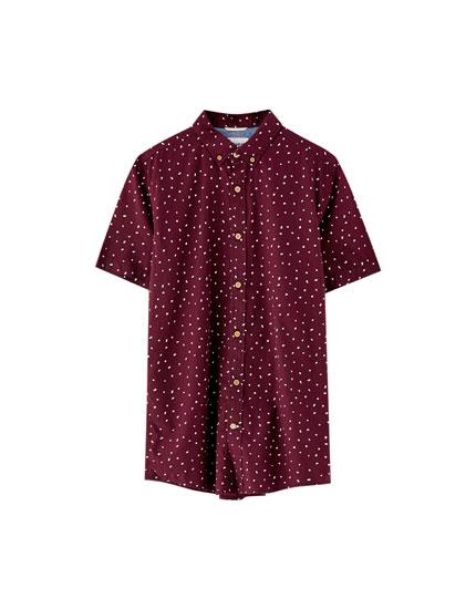 Camisa manga corta miniprint