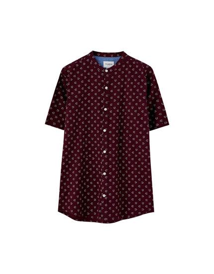25d0e410b7906 Cuello mao - Camisas - Ropa - Hombre - PULL BEAR Mexico