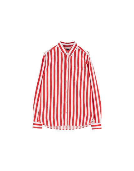 Join Life green wide stripe shirt