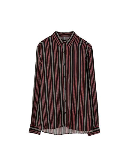Multicoloured stripe shirt