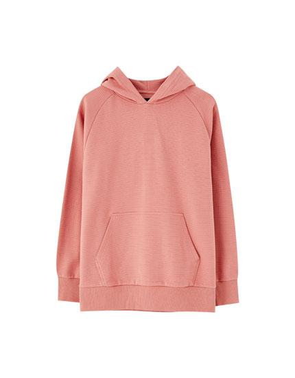 Džemperis no turku stila auduma, ar kapuci