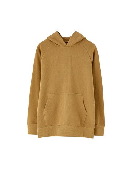 Ottoman knit hoodie