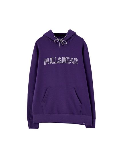 Hanorac cu glugă și logoul Pull&Bear