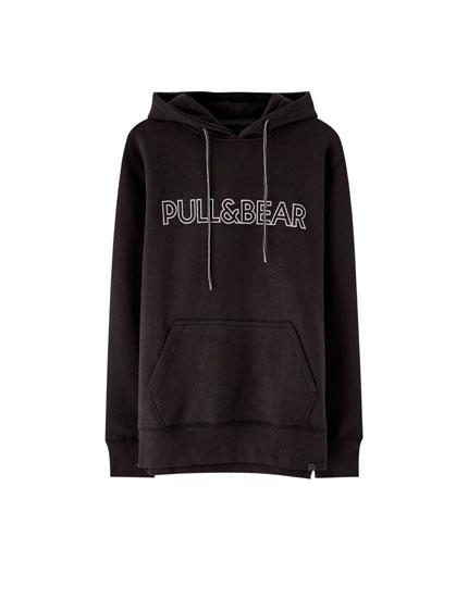 Sweatshirt com capuz e logótipo Pull&Bear