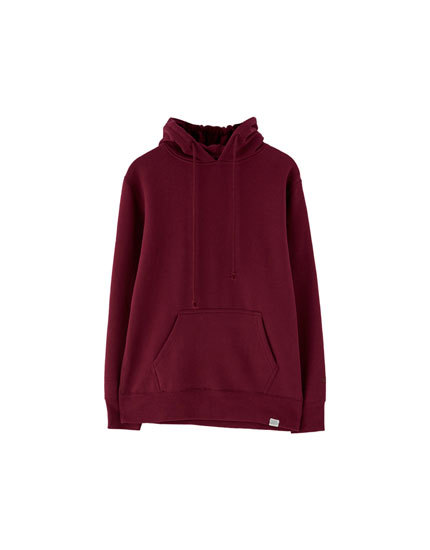 Sweat basic poche kangourou