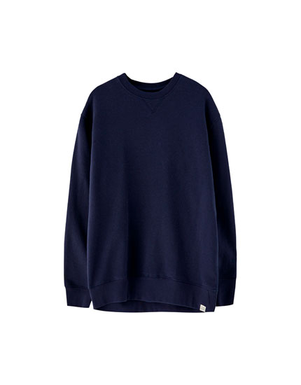 Sweatshirt básica de felpa grossa