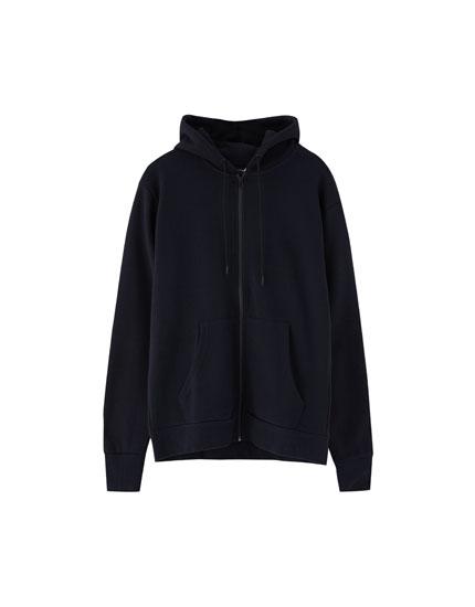 Piqué hoodie