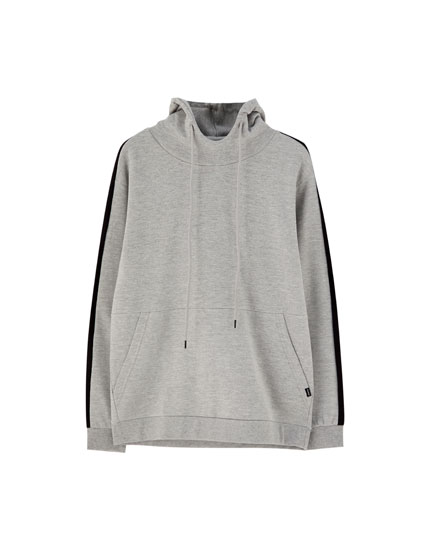 Hoodie with side stripes