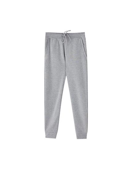 Pantalon de jogging piqué
