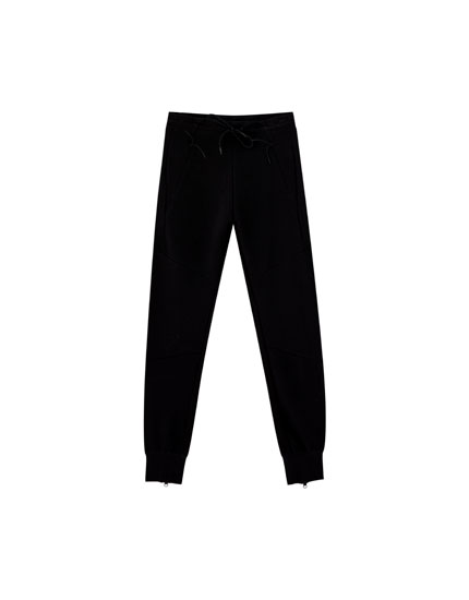 Pantalon de jogging ottoman liens de serrage