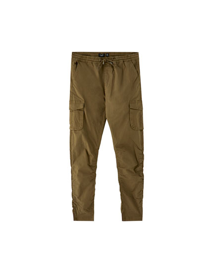 Pantalon style battle froncé