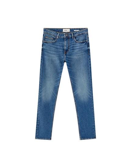 Dark blue slim comfort fit jeans