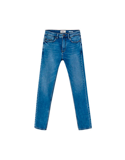 Jeans slim comfort fit azul medio