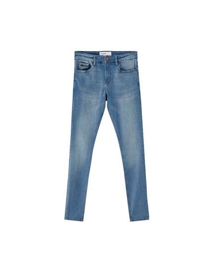 Jeans super skinny fit gris