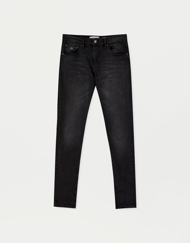 16ba263c2 Jeans super skinny fit negro desgastado - PULL BEAR