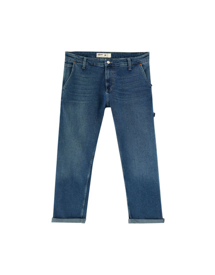 Jeans regular fit azul medio