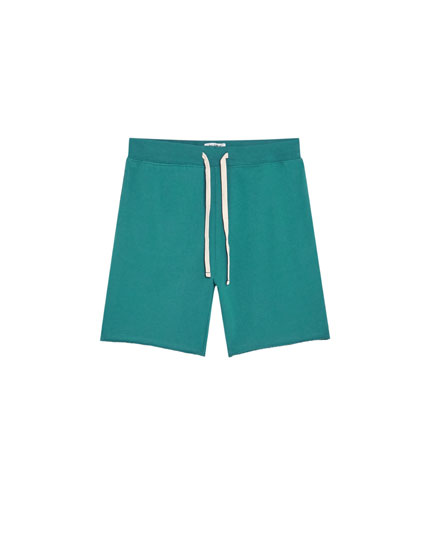 Basic coloured jogging Bermuda shorts