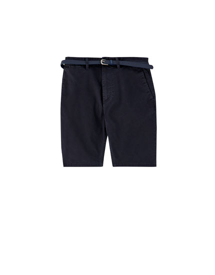 Tailored Bermuda shorts with belt