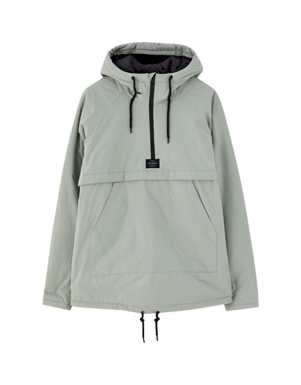 Hooded pouch pocket jacket