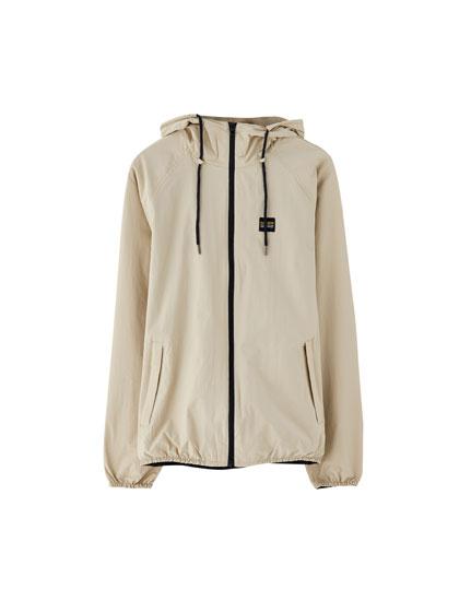 Hooded nautical jacket
