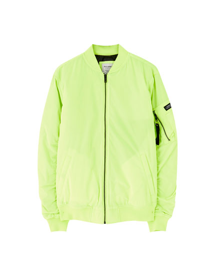 Neon bomber jacket