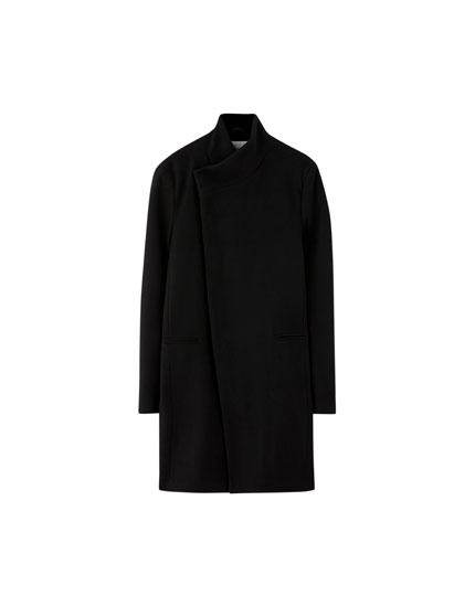 Black woolly coat