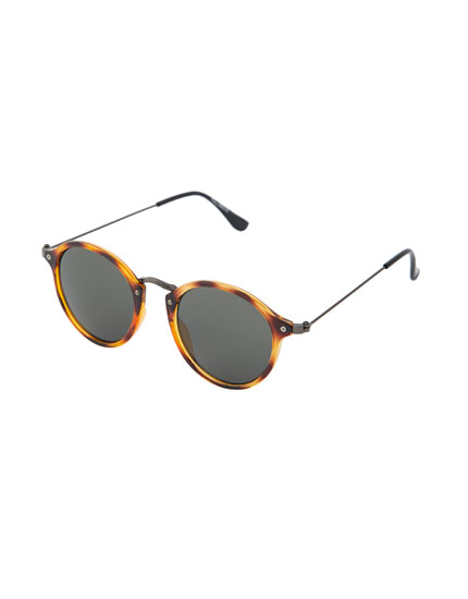 Metal and tortoiseshell sunglasses