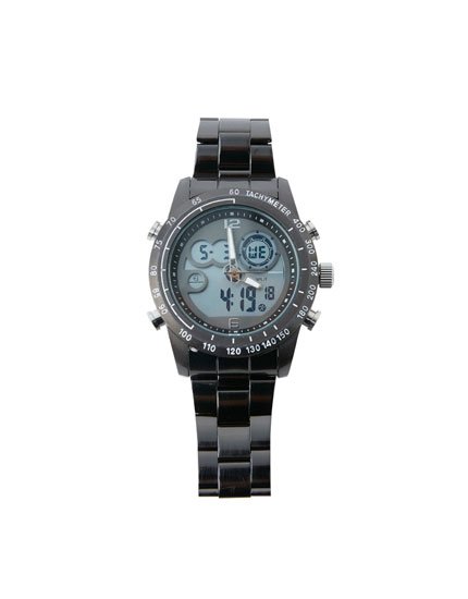 Metal digital watch