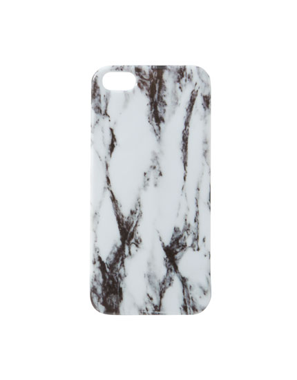 White marble-effect iPhone 5/5S case