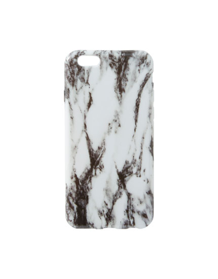 White marble-effect iPhone 6/6S case