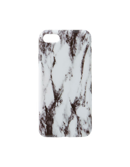 White marble-effect iPhone 7/8 case