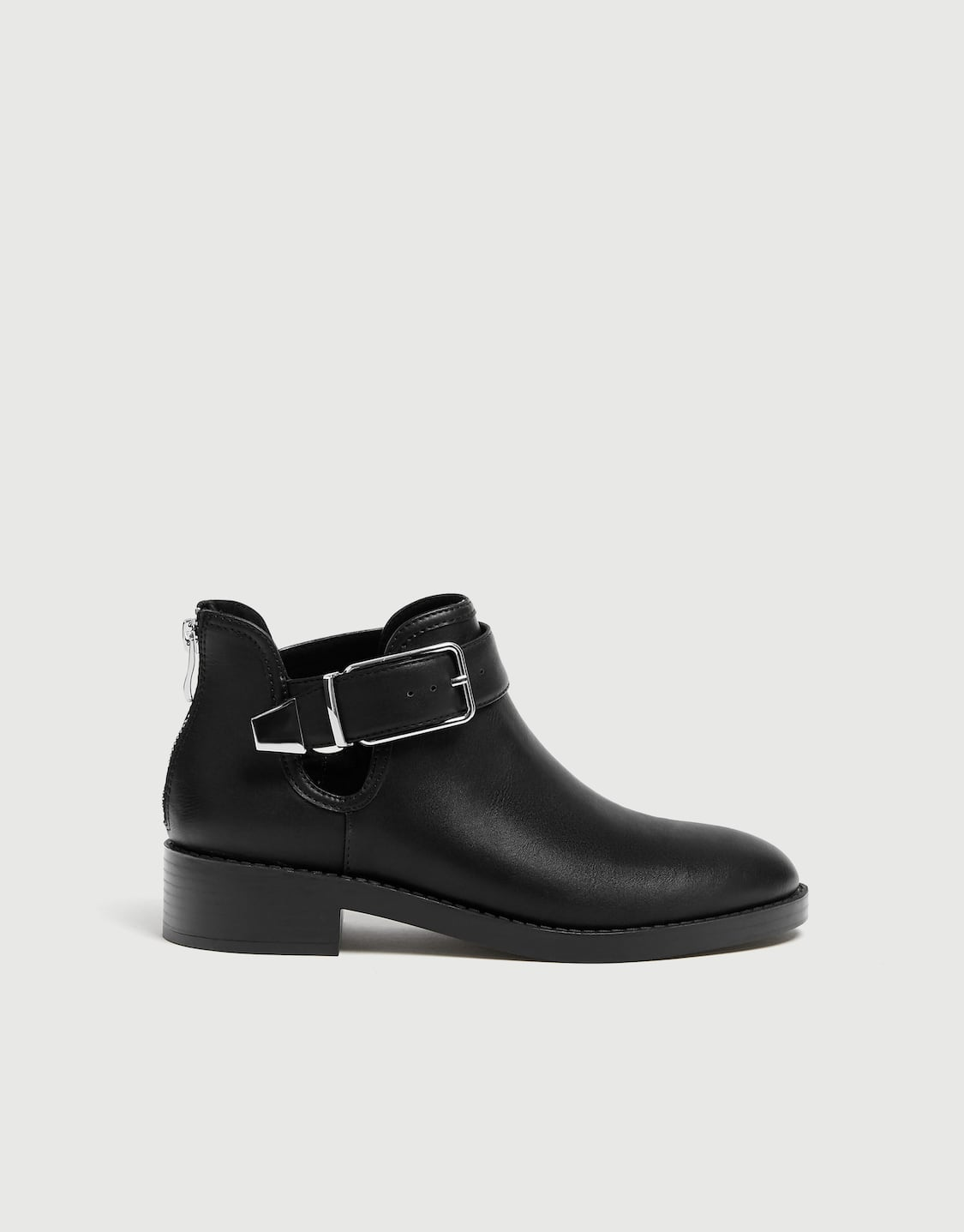 f31156b9a Flat openwork ankle boots - PULL&BEAR