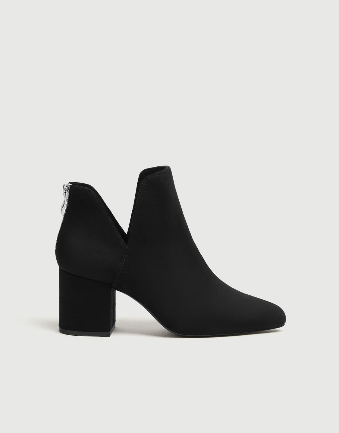 eb4579912d8 Black cut-out high-heel ankle boots - PULL&BEAR