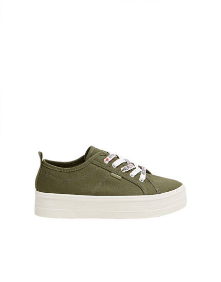 Green chunky sole trainers