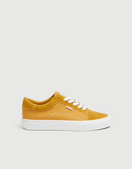 Mustard yellow street trainers