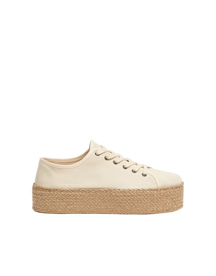 Sadie Sink Join Life chunky jute sole trainers