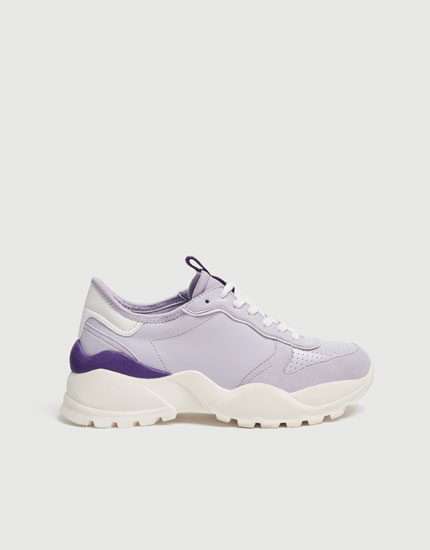 Mauve fashion trainers