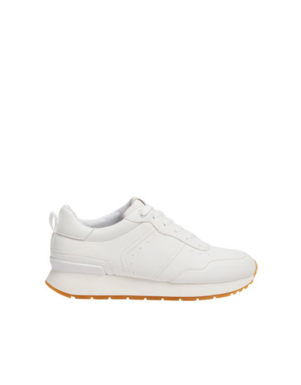 BASIC CARAMEL SOLE JOGGING SHOES